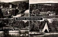 Bad GANDERSHEIM Landkreis Northeim alte Mehrbild-AK 4 Ansichten um 1950/60