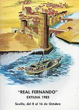 Documento para Album de 15 anillas Real Fernando Exfilna 1983 Sevilla (DG-2)