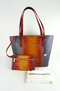 Authentic Brahmin Brooke Sunrise Millenia Leather Tote w/Pouch -NWT