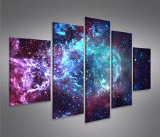 Bild auf Leinwand Sternennebel Sterne Weltall Galaxie MF Leinwandbild Wandbild