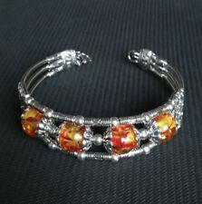 Ladies Jewellery Tibet silver Amber Bracelet Woman Bracelet