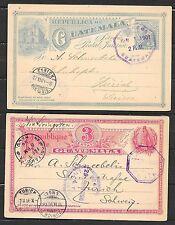Guatemala covers 1896/1901 2 PCs to Zürich
