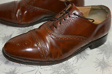 MEN'S BARKER WINGTIP DRESS SHOES! BROWN! FULLY LINED! MADE IN ENGLAND! 8 UK/8.5