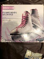 Dbx Girls 1000 Series Double Bladed Ice Skates Size 13J White