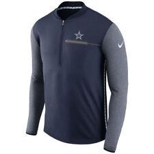 NFL Dallas Cowboys Men's Navy Sideline Coaches Half-Zip Pullover Jacket, X-Large