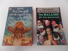 """lot 2 livres de poche """"ces malades qui nous gouvernent"""", Tom Robbins"""