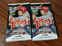 2018 Topps Baseball Series 1   10 card Blaster pack x 2 = 20 cards!!!