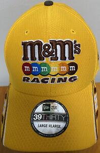 Nascar Champion Kyle Busch M&M's Racing New Era Men's Fitted L/XL Pit Hat/Cap
