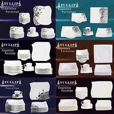 72 tlg Geschirr Tafelservice Kaffeeservice Kombiservice Porzellan 12 Pers. 9 Mod