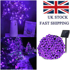 Waterproof Solar Purple Fairy String Lights 200 LED Outdoor Christmas Tree Party