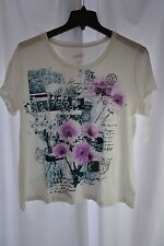 New Style&Co. Sport Women's Plus Size 1X Bright White Decorative T-Shirt
