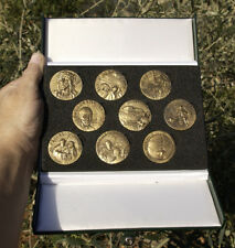 France 2 Millennia of Christianity SET of 9 medals 40mm