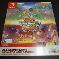 """Pokemon Mystery Dungeon Poster Nintendo Promo Poster Pokémon 28""""x24"""""""