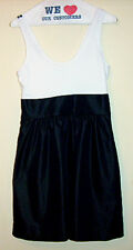 Express White Top and Black Skirt Dirdl Dress-8