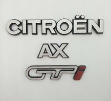 ⭐🇫🇷 NEUF PACK 3 MONOGRAMMES CITROEN AX GTi LOGOS REPRODUCTION NEW 48H BADGE