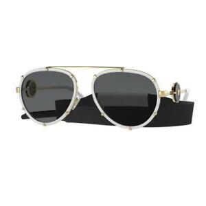 Versace VE2232 Col. 147187 White Pilot Sunglasses MSRP $499