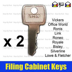 2 x Filing Cabinet Key for Lowe & Fletcher, Royale, Silverline, Bisley, Triumph