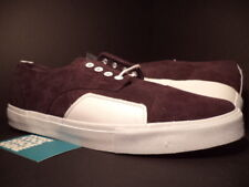 2010 VANS ZERO LO SYNDICATE S LUKE MEIER BURGUNDY RED WHITE SK8 VN-0KYHZ28 10.5