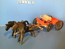 (O3587.2) playmobil fiacre, diligence année 83 cow-boy, western ref 3587