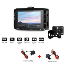 "3"" LCD Waterproof Motorcycle DVR HD Camera Dual Lens 1080P Video Recorder Pretty"
