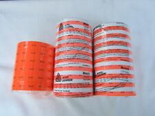 New Rolls of 1115 Labels 19 Rolls of Orange & White Sale, 6 Rolls of Orange Sale