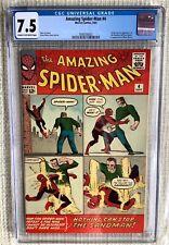 Amazing Spider-man # 4 CGC 7.5 Stan Lee, 1st Sandman Sinister Six