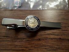 U.S MILITARY AIR FORCE RETIRED TIE BAR OR TIE TAC CLIP ON TYPE SILVER COLOR BAR