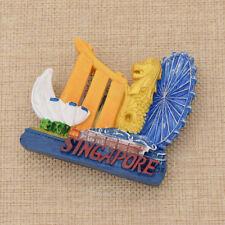 3D Resin Singapore Fridge Magnet Refrigerator Decor Tourist Travel Souvenir