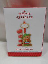 2013 Hallmark Keepsake Ornament My First Christmas Age Series 2014 15 16 17 18