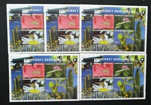 Madagascar- Insects-Flowers-5x1M/Sh. MNH**, Mad 25A