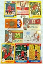 10 card lot fantastic reprint rookie Michael Jordan autographed ACEO Gold kenner