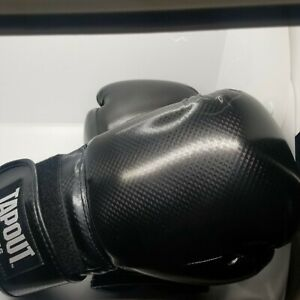 TAPOUT Fitness Classic Boxing Training Gloves in Black 12 oz