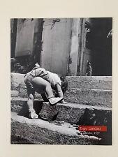 ERGY LANDAU,'LA MARCHE,1937' AUTHENTIC 1990 ART PHOTO PRINT