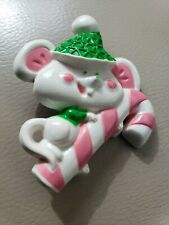 Vintage Avon Mouse On Candy Cane  Pin Pal Kids Jewelry