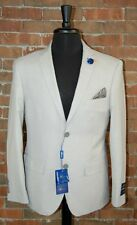 40 S BRAND NEW SLIM FIT  TAN / WHEAT 2PC MENS SUIT by STUDIO 18 FREE LAPEL PIN