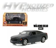 GREENLIGHT 1:43 THE WALKING DEAD 2006 DODGE CHARGER POLICE DIE-CAST BLACK 86505