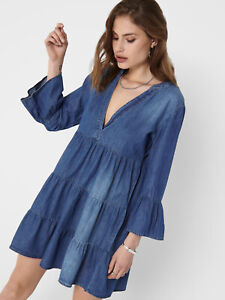 JDY Jacqueline de Young Kleid Jeanskleid oNlY Jeans Dress Tunika Kleid Blogger %