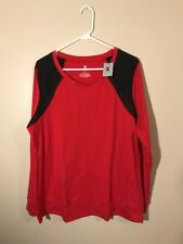 B Active NWT Red & Black Long Sleeve Size 14/16