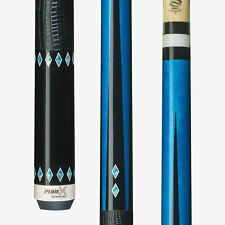 HXT32 PureX Technology Pool Cue Stick Blue - Kamui Soft - Embossed Leather Wrap
