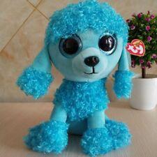 "Ty Beanie Boos 6"" Mandy Glitter eyes POODLE DOG Plush Toy Doll Girl Gift"