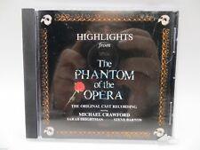 Highlights From The Phantom of the Opera - Original Cast Recording CD