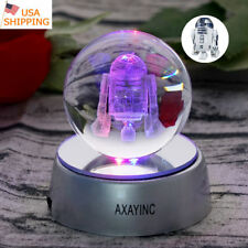 Star Wars The Last Jedi R2-D2 3D Crystal Ball LED Night Light Table Lamp Gift