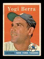1958 Topps Set Break # 370 Yogi Berra VG-EX *OBGcards*