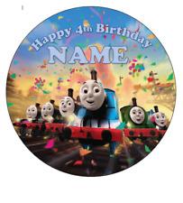 Thomas the Tank engine personalised edible Image cake topper 19cm #64