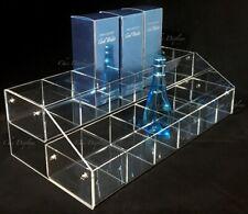 Multi Tier Bin Acrylic Display Stand Makeup Organizer Bin Countertop Display Bin