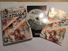 Nintendo Wii jeu vidéo jeu vidéo Samurai Warriors Katana + boîte Inst complet PAL