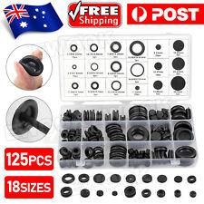 125PCS Rubber Grommet Assortment Set Fastener Kit Blanking 18 Popular Sizes