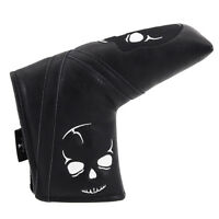 NEW Golf Headcover Putter Blade Head Covers Black Skull for Taylormade Callaway