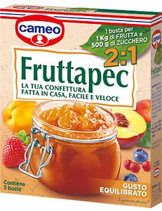 CAMEO FRUTTAPEC 2:1 PREPARATO PER MARMELLATA CONFETTURA CON PECTINA 3 BUSTE 75g