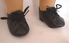 BLACK SOFT-SOLED JAZZ DANCE SHOES with Laces fits American Girl